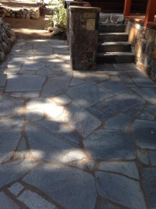 Flagstone hardscaping ideas