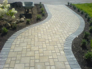 paver stone patio installation